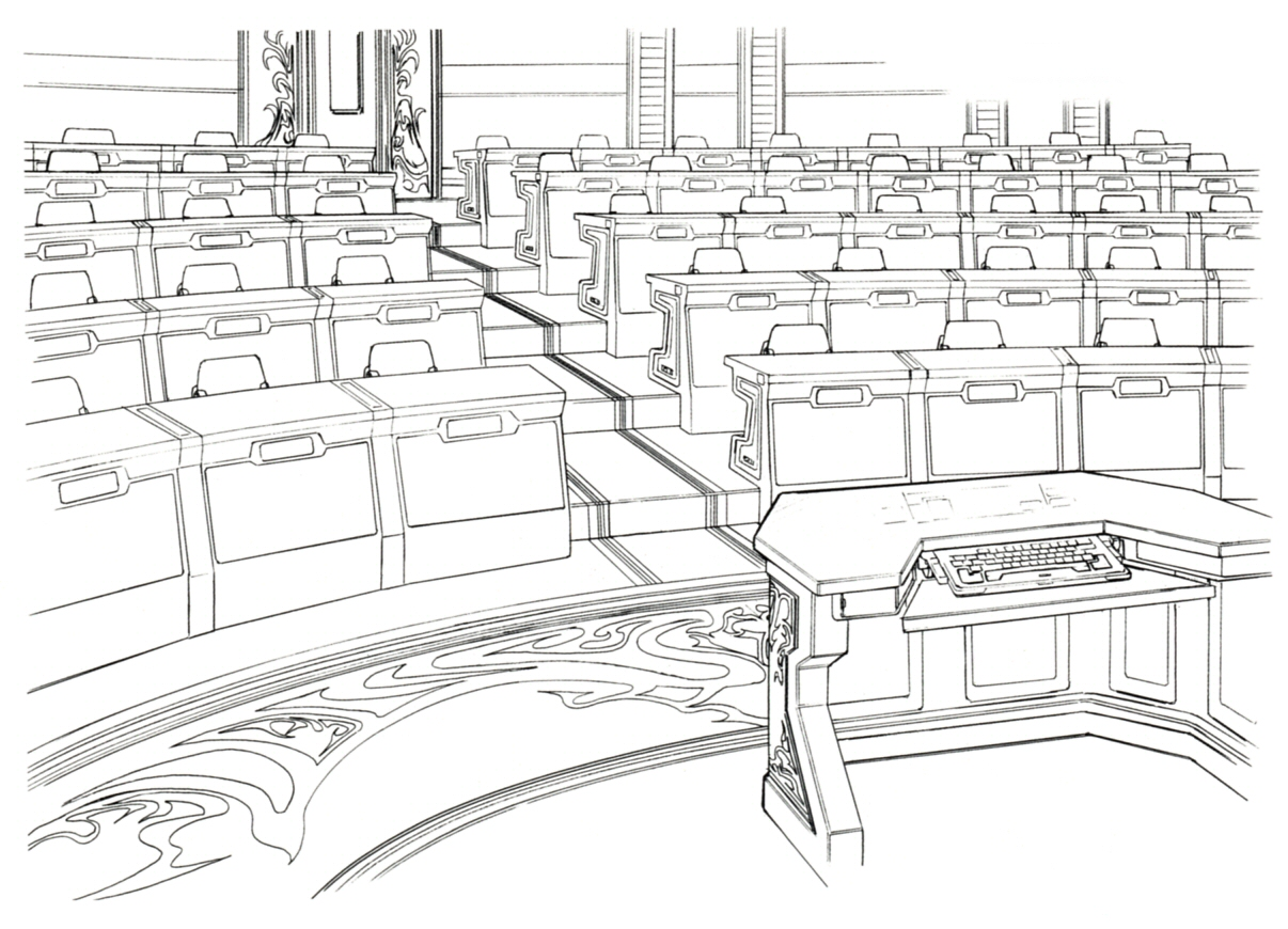 Classroom Design Sketch : Final fantasy official artwork