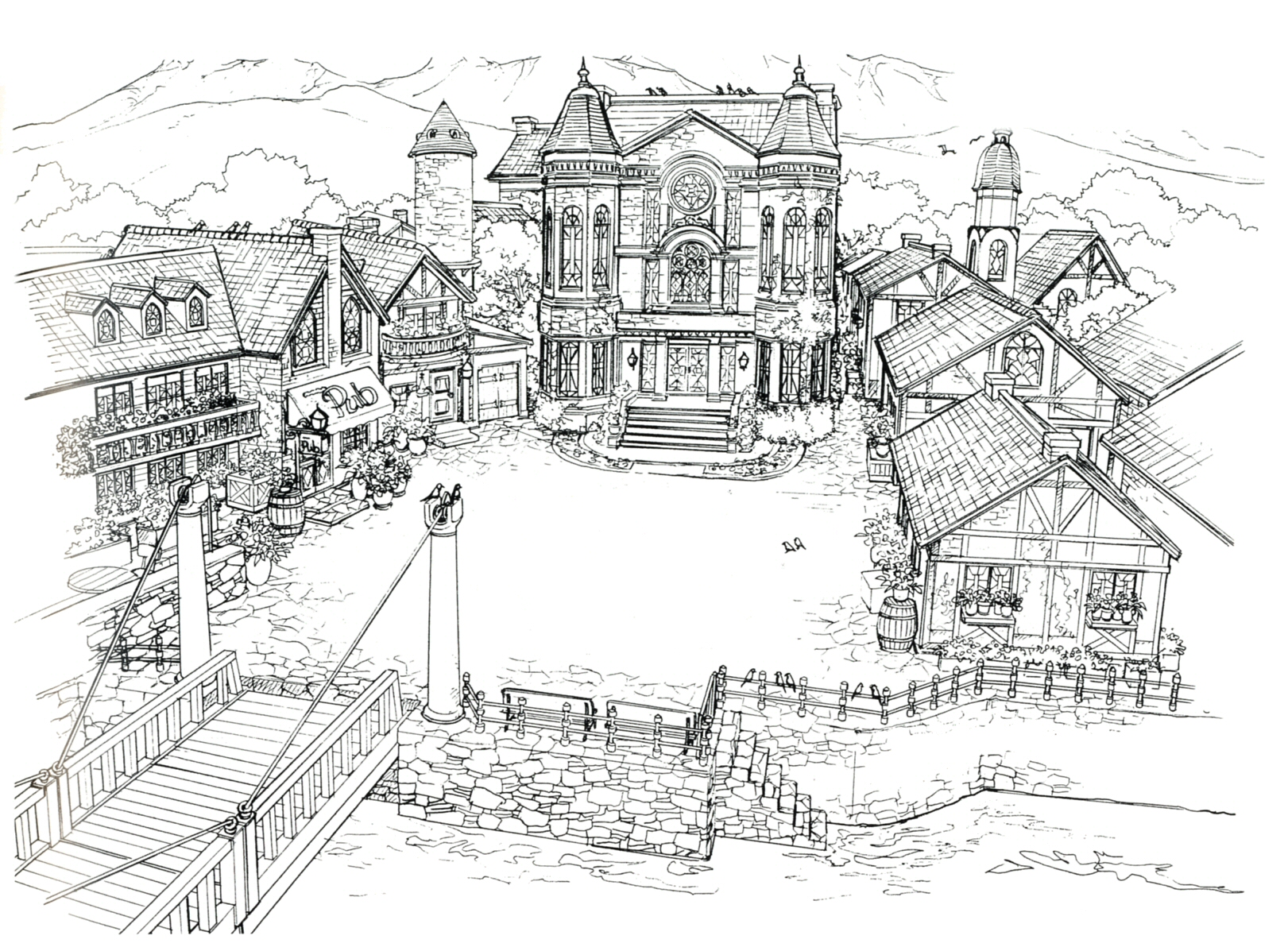 Final fantasy 8 official artwork for Final fortress blueprints